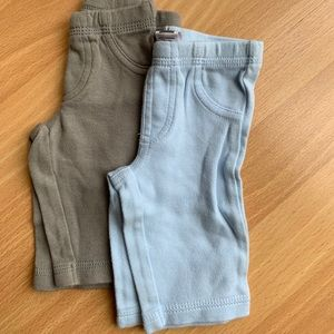 Lot of 5 Pairs Carter's Pants, Newborn